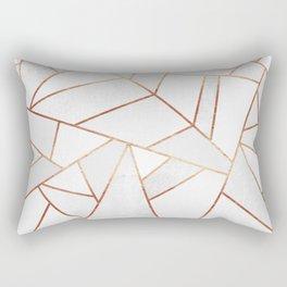 White Stone & Copper Lines Rectangular Pillow