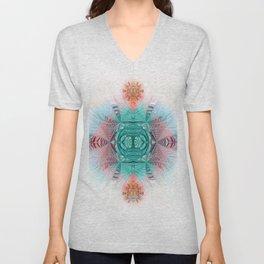 Sacred Geometry Feathered Pastel Mandala Unisex V-Neck