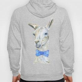 Llama with a Bow Tie Watercolor Hoody