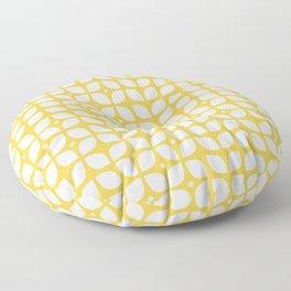 Mid century modern yellow geometric Floor Pillow