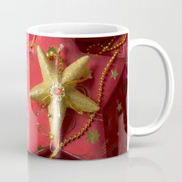 Christmas decoration at red background Coffee Mug