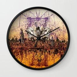 new york city skyline collage 2 Wall Clock