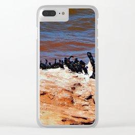 Cormorant Rest Area Clear iPhone Case