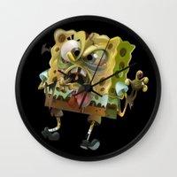 spongebob Wall Clocks featuring SpongeBob SquarePants by Tayfun Sezer
