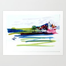 Chapel by the Tropical Inlet Art Print