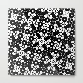 Black and White Geometric Print Metal Print