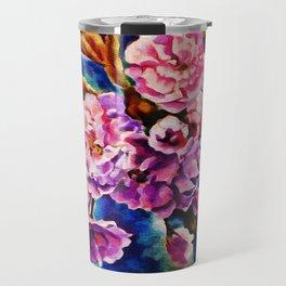 Bloom Floral Sun Fuchsia Pink Art Travel Mug