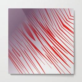 wild cute zebra lines Metal Print