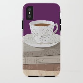 Teacup, Jane Austen, & Charlotte Brontë Books iPhone Case