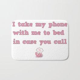 call me! Bath Mat