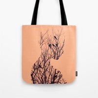 birds Tote Bags featuring Birds by Andreas Lie