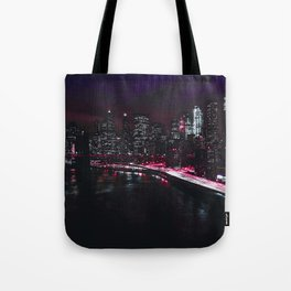 Red New York City Tote Bag