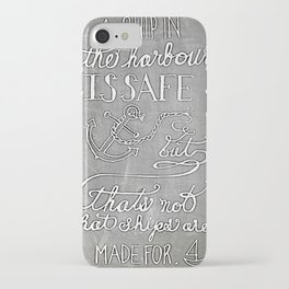 Chalkboard hand-lettered motivational quote iPhone Case