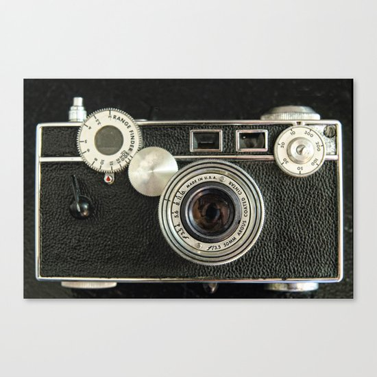 Vintage Range finder camera. Canvas Print
