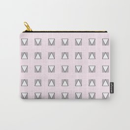 Audrey and Frank - Modern Envelopes Grid (Pink) Carry-All Pouch