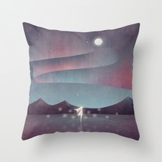 Descendant Of The Northern Lights Throw Pillow