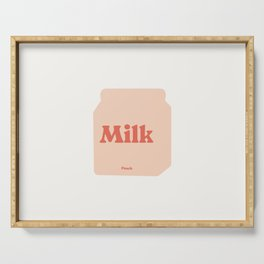 Milk Carton # peach cream Serving Tray