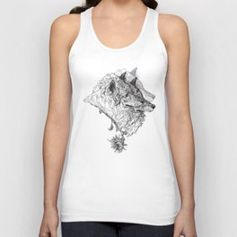 Cerberus Black and White Unisex Tank Top