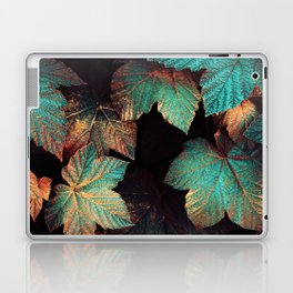 Copper And Teal Leaves Laptop & iPad Skin
