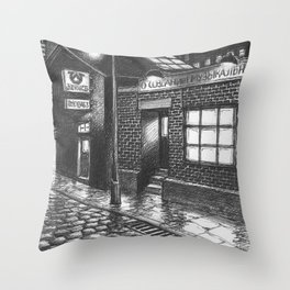 Warehouse music after work Throw Pillow