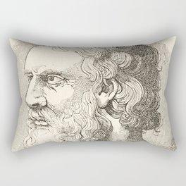 Vintage Plato The Philosopher Illustration Rectangular Pillow
