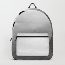 Abstract Beach | Jump for Joy Dramatic Black and White Happy Sunset Gray Bright Mood Backpack