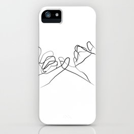 promettre -Pinky Swear , One Line Drawing iPhone Case