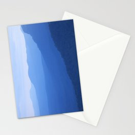 Layers of mountains at dusk, Blue Mountains, NSW, Australia Stationery Cards