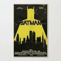 bat man Canvas Prints featuring Bat Man  by Mark Welser
