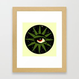 Red and Green All Seeing Cosmic Eye Framed Art Print