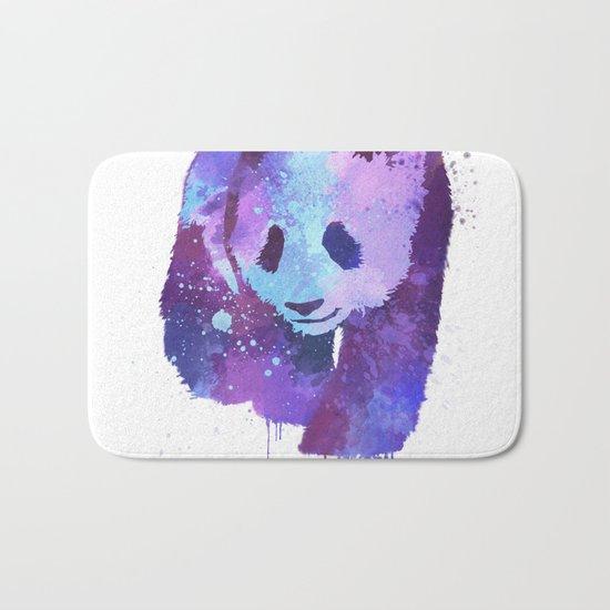 Watercolor Panda in Purple Bath Mat