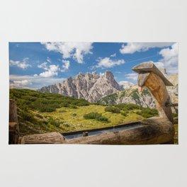 Three Peaks of Lavaredo - Sexten Dolomites Italy Rug