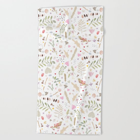 Hedgerow Beach Towel