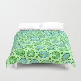 Friendly Frogs Duvet Cover