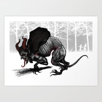 Krampus Rat Art Print