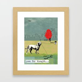 Paws for Thought... Framed Art Print