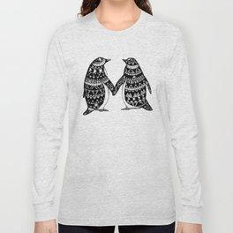Penguin Couple Long Sleeve T-shirt