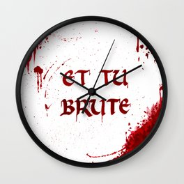 Bloody Last Words Wall Clock