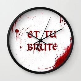 Bloody Last Words Wall Clock