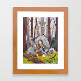 Tea in the Forest Framed Art Print