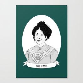 Annie Kenney Illustrated Portrait Canvas Print