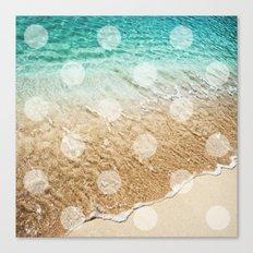 Virgin Islands / Polka Dots Canvas Print