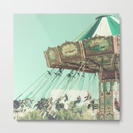 Winter Swing Chairs  Metal Print