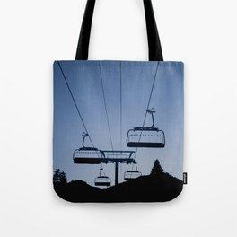 Mammoth Mountain Silhouette Tote Bag