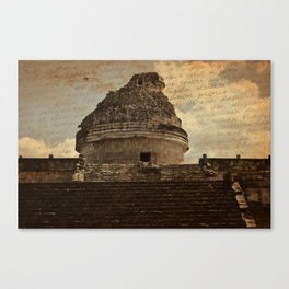 Observatory [Text Overlay] Canvas Print