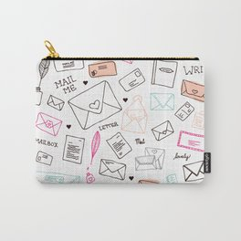 Love letter illustration pattern design Carry-All Pouch