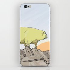 a pug turns into a rock robot iPhone & iPod Skin