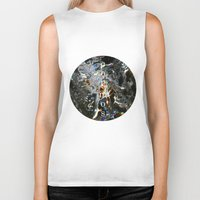 cosmos Biker Tanks featuring Cosmos by digital_flowers