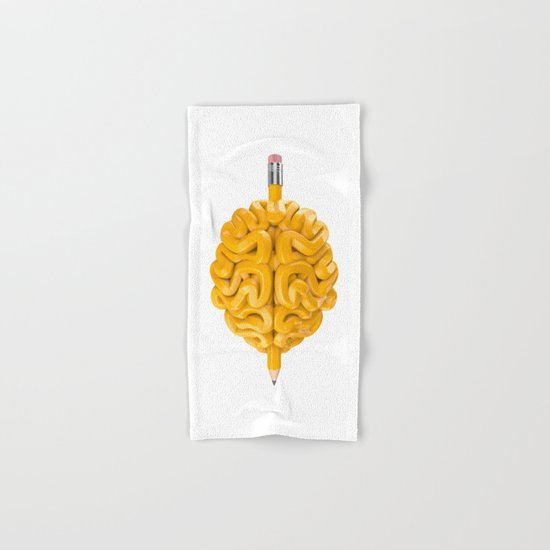 Pencil Brain Hand & Bath Towel
