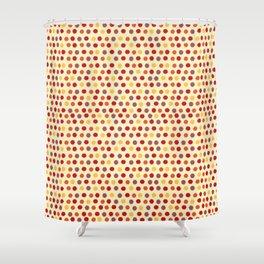 Ikat Pattern (Polka Dots) Shower Curtain